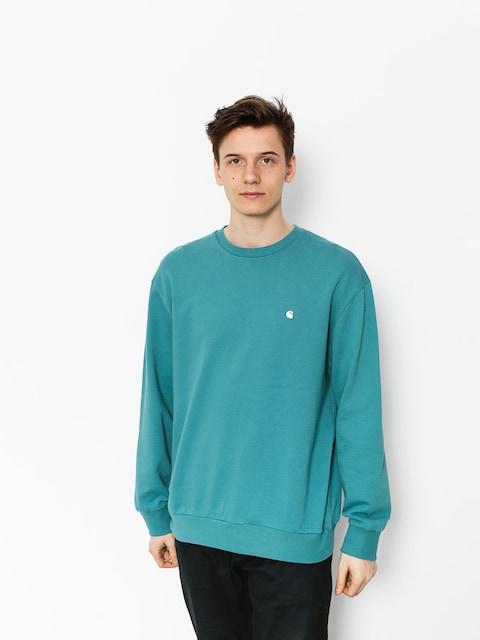 Carhartt Sweatshirt Madison (soft teal/white)