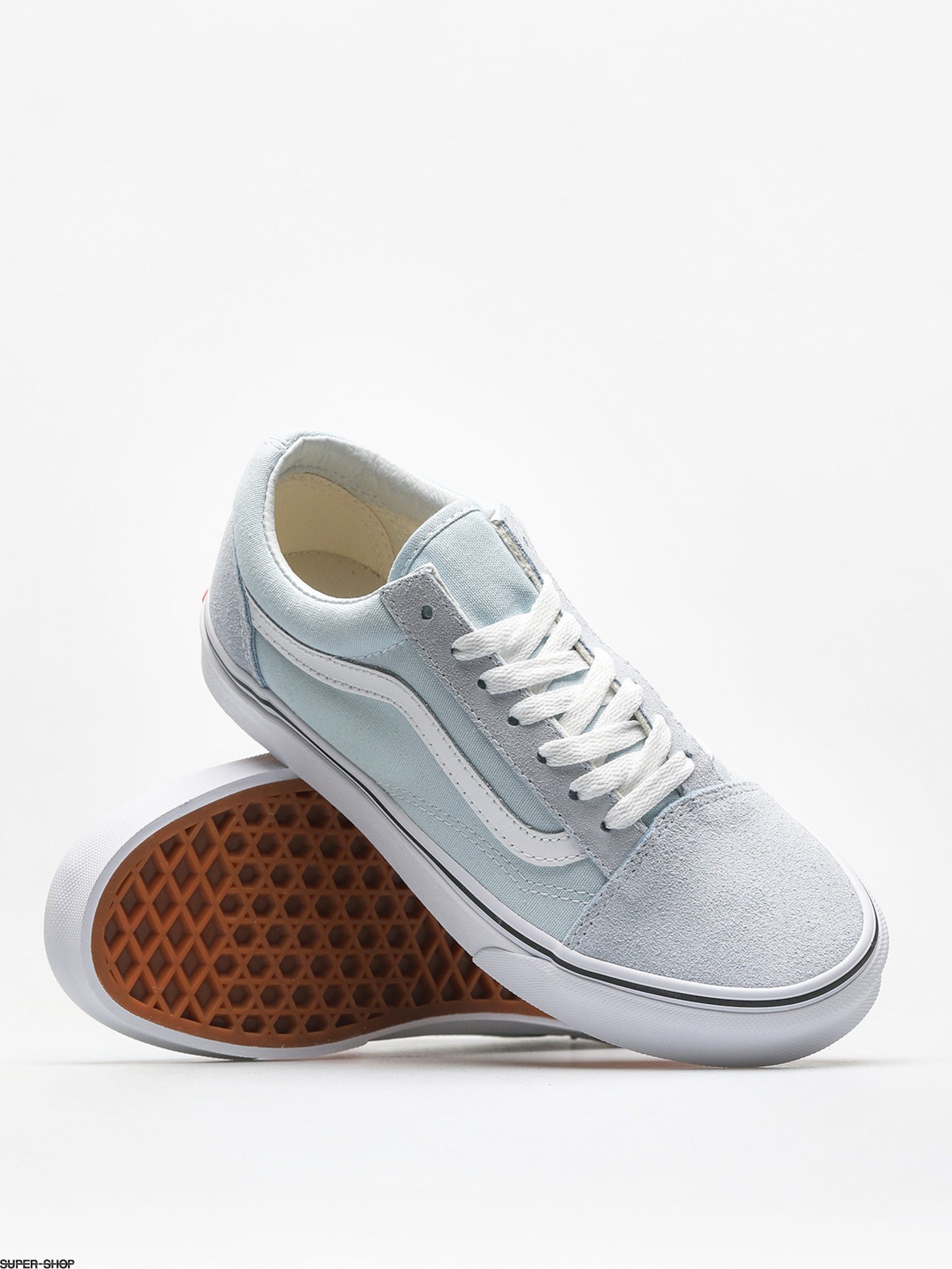 vans shoes old skool baby blue true white. Black Bedroom Furniture Sets. Home Design Ideas