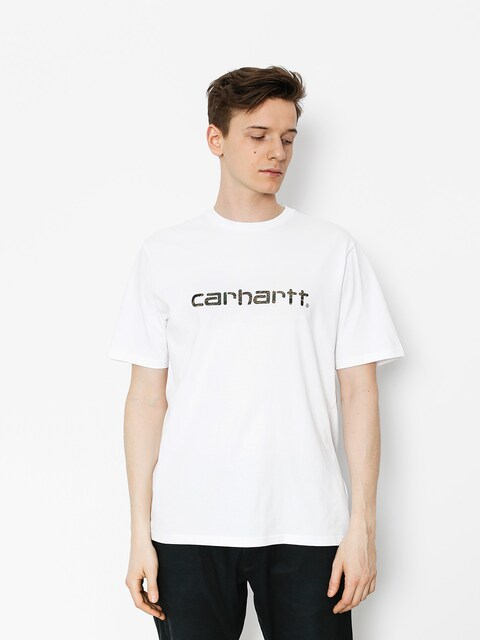 Carhartt T-shirt Script (white/camo tiger laurel)