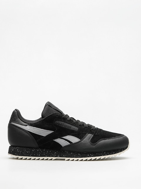 Reebok Shoes Cl Lthr Ripple Sm (black/cool shadow/ch)