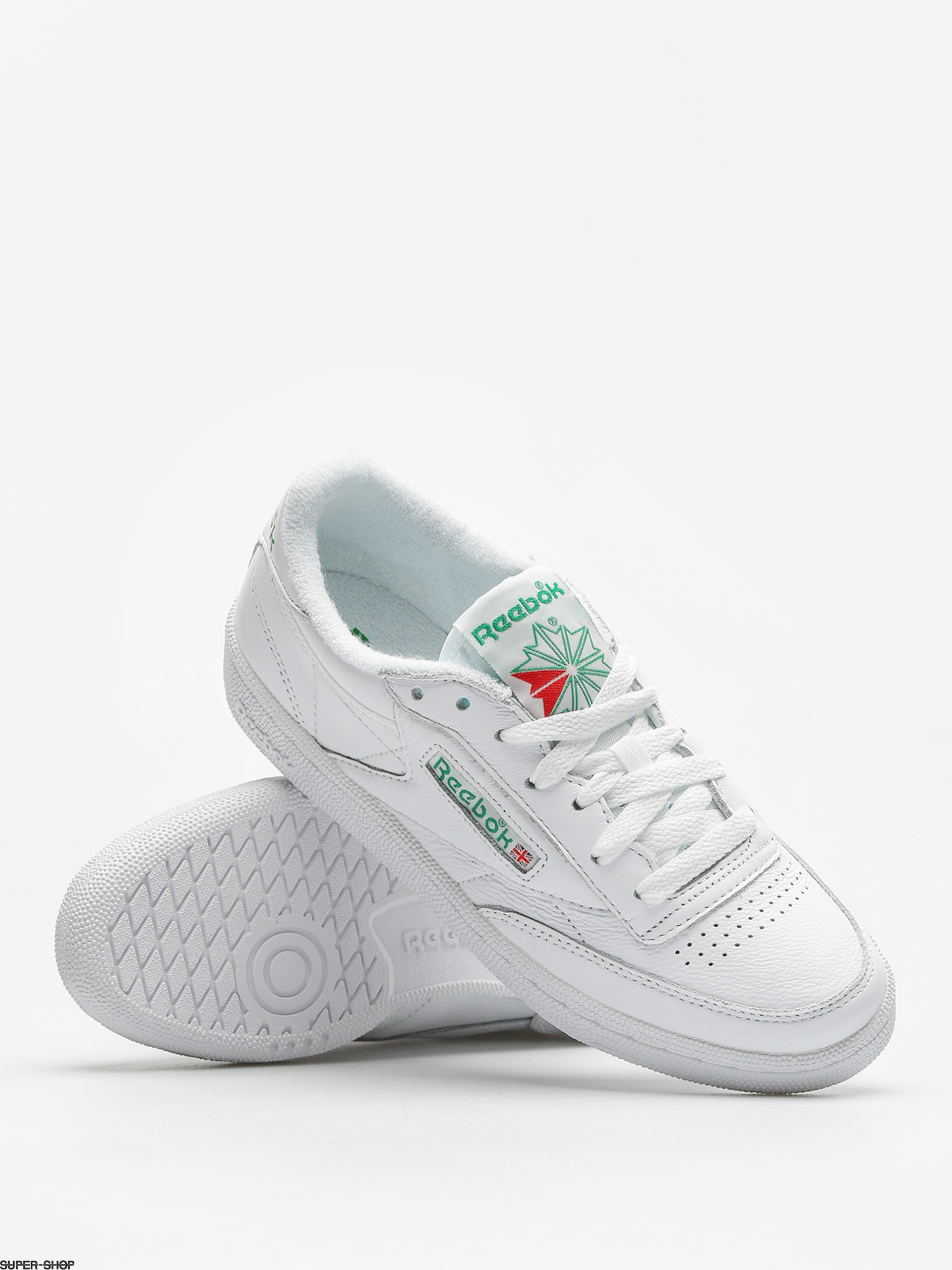 f9757c9b478 Reebok Shoes Club C 85 Archive Wmn (white glen green red)