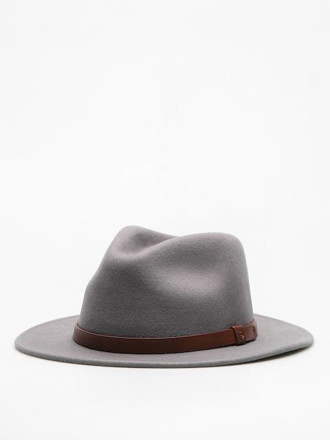 Brixton Hut Messer Fedora (light grey/brown)