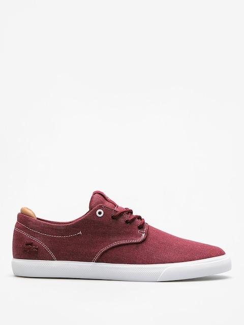 Lacoste Shoes Esparre 118 2 (dark red/light tan)