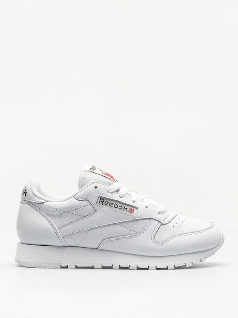 Reebok Shoes Cl Leather Wmn (white/carbon/red)