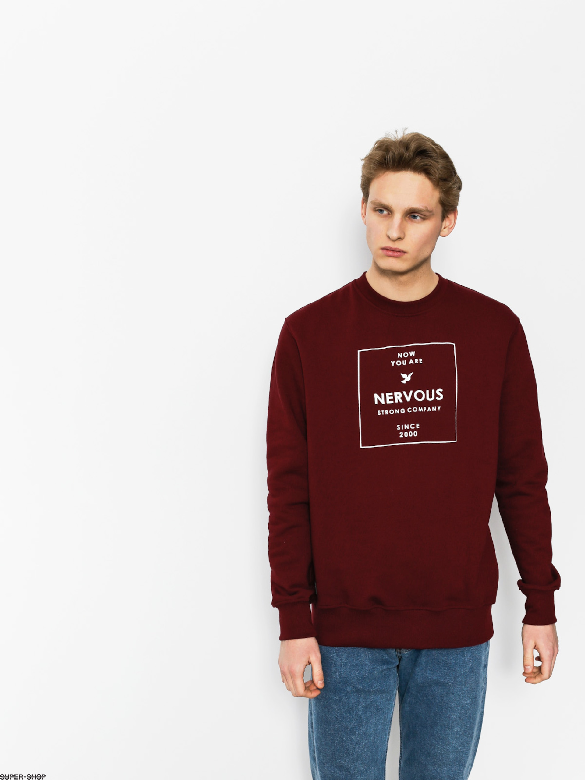 Nervous Sweatshirt Lightbox (maroon)
