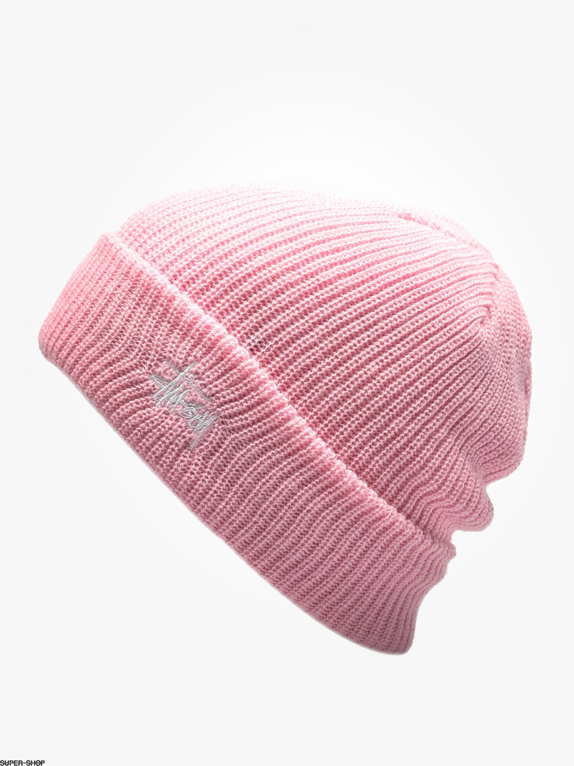 70dbbf548 Stussy Beanie Basic Cuff Beanie (pink)