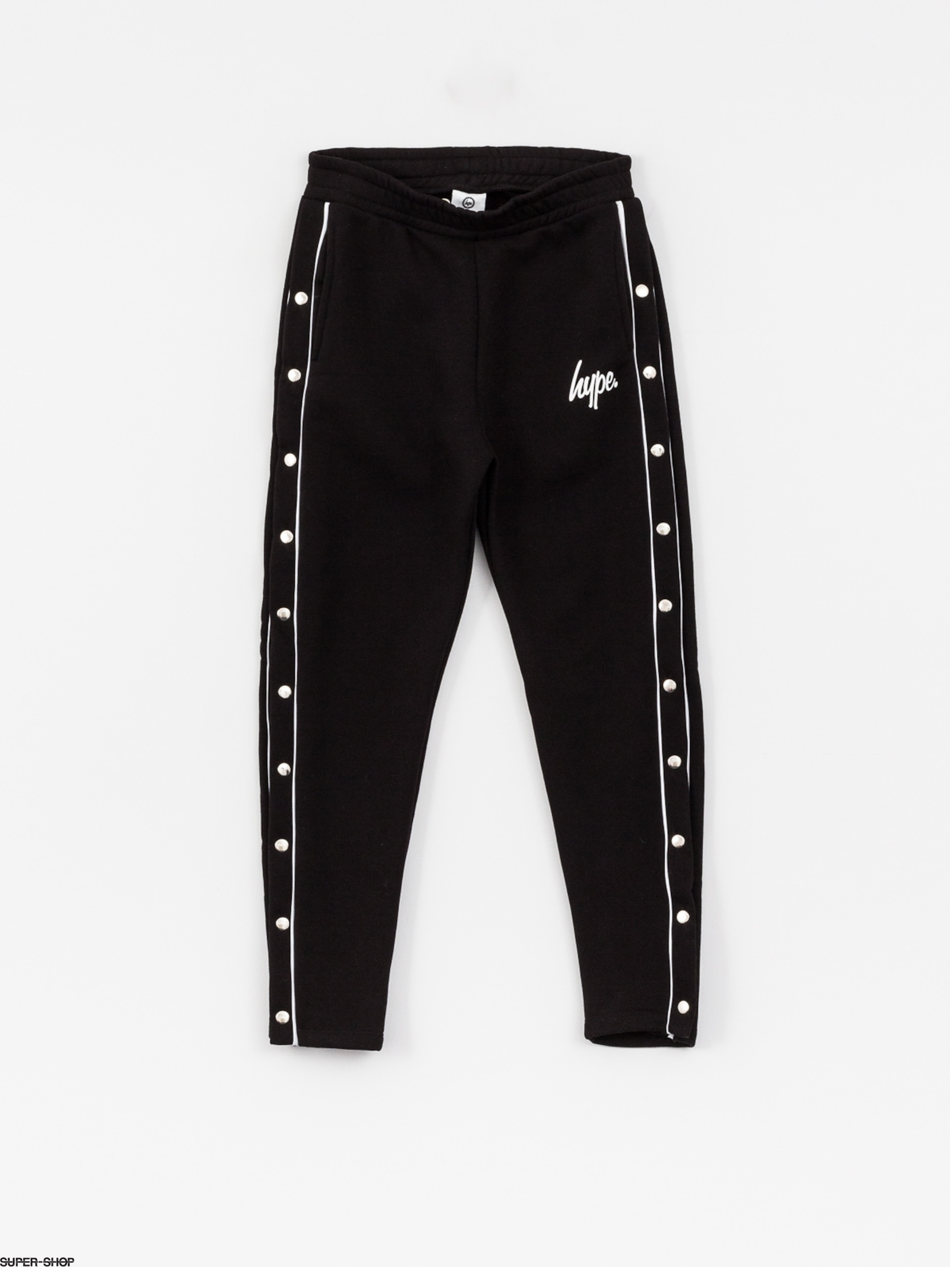Hype Pants Popper Jogger Wmn (black/white)