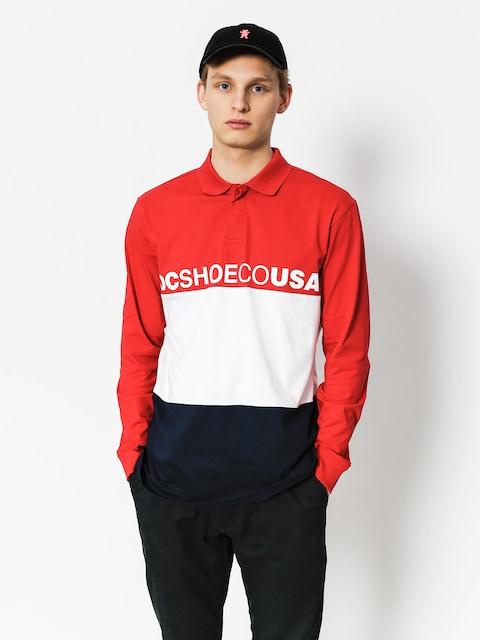 DC Polo t-shirt Stewardson LS (tango red)