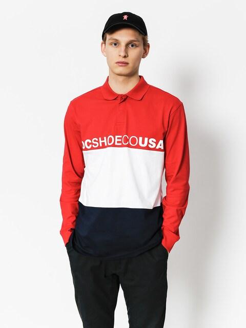 DC Poloshirt Stewardson LS (tango red)