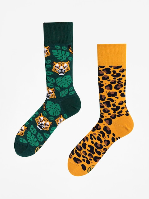 Many Mornings Socken El Leopardo (green/yellow)