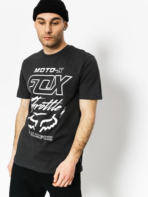 Fox T-shirt Throttled Premium (blk vin)