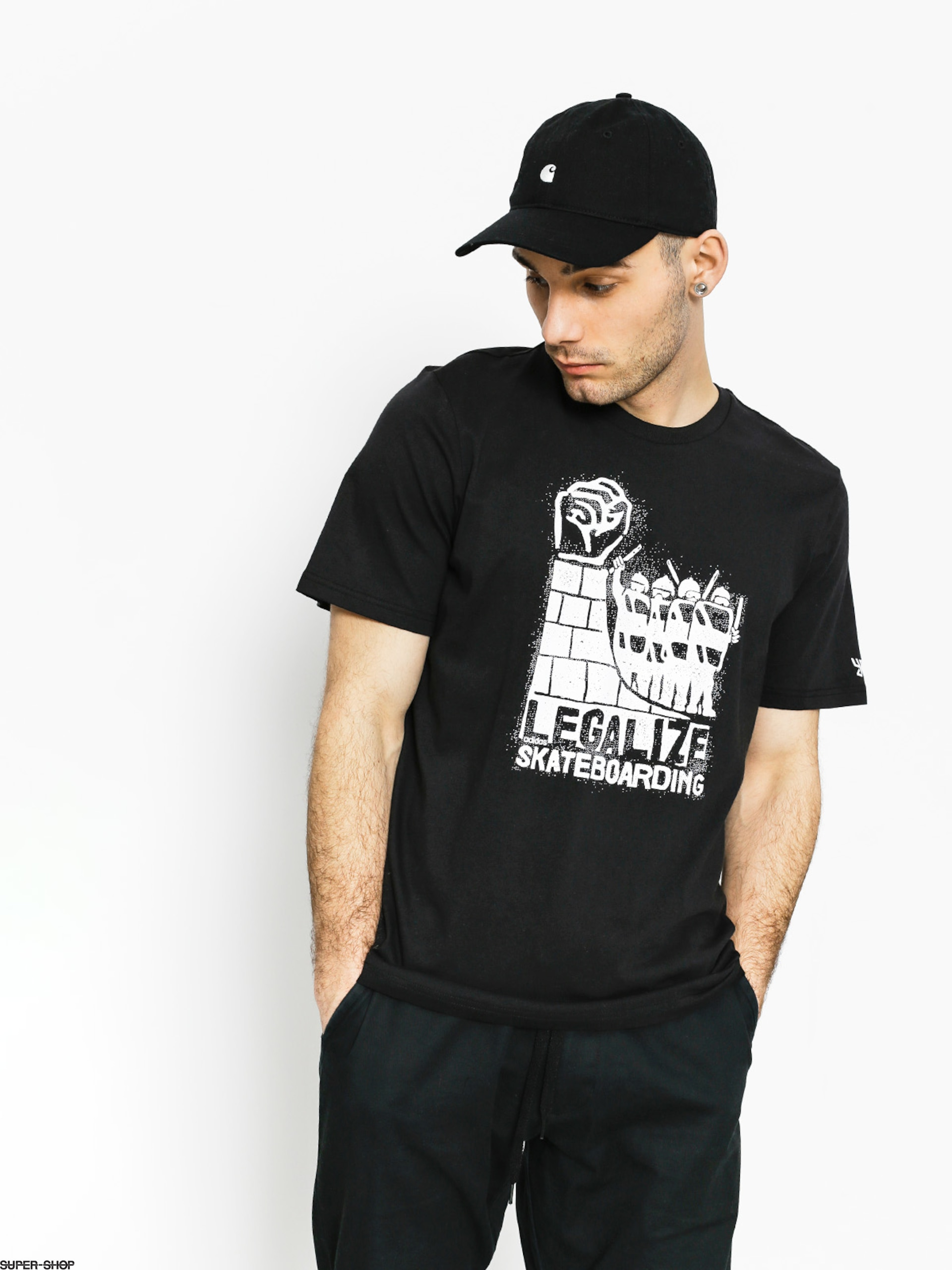 adidas T-Shirt Legalize (black/white)
