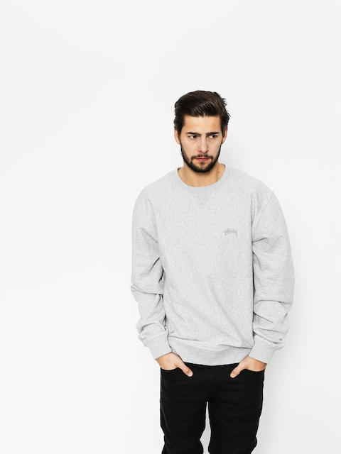 Stussy Sweatshirt Stock LS Terry (grey heather)