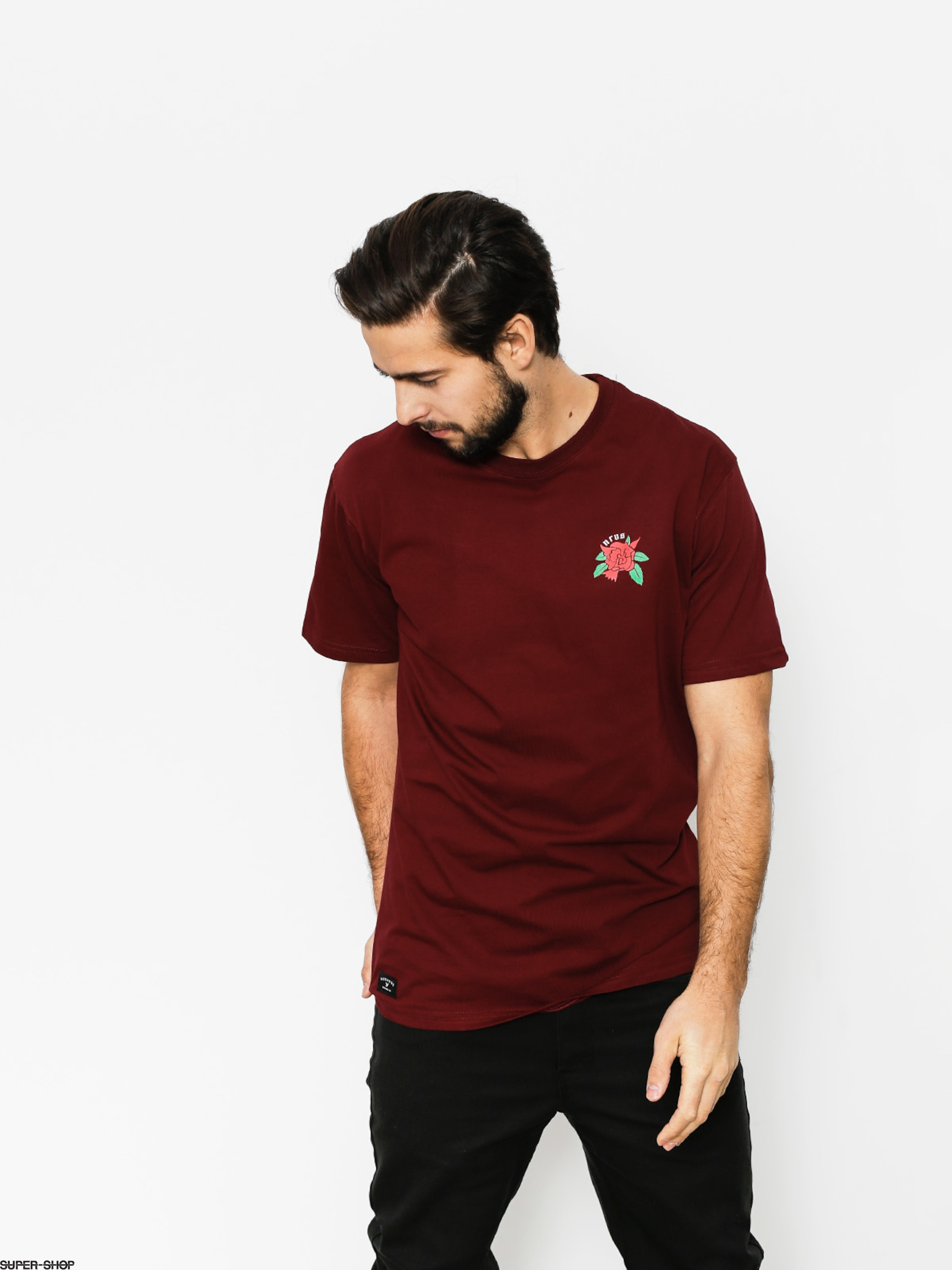Nervous T-shirt Rose (maroon)