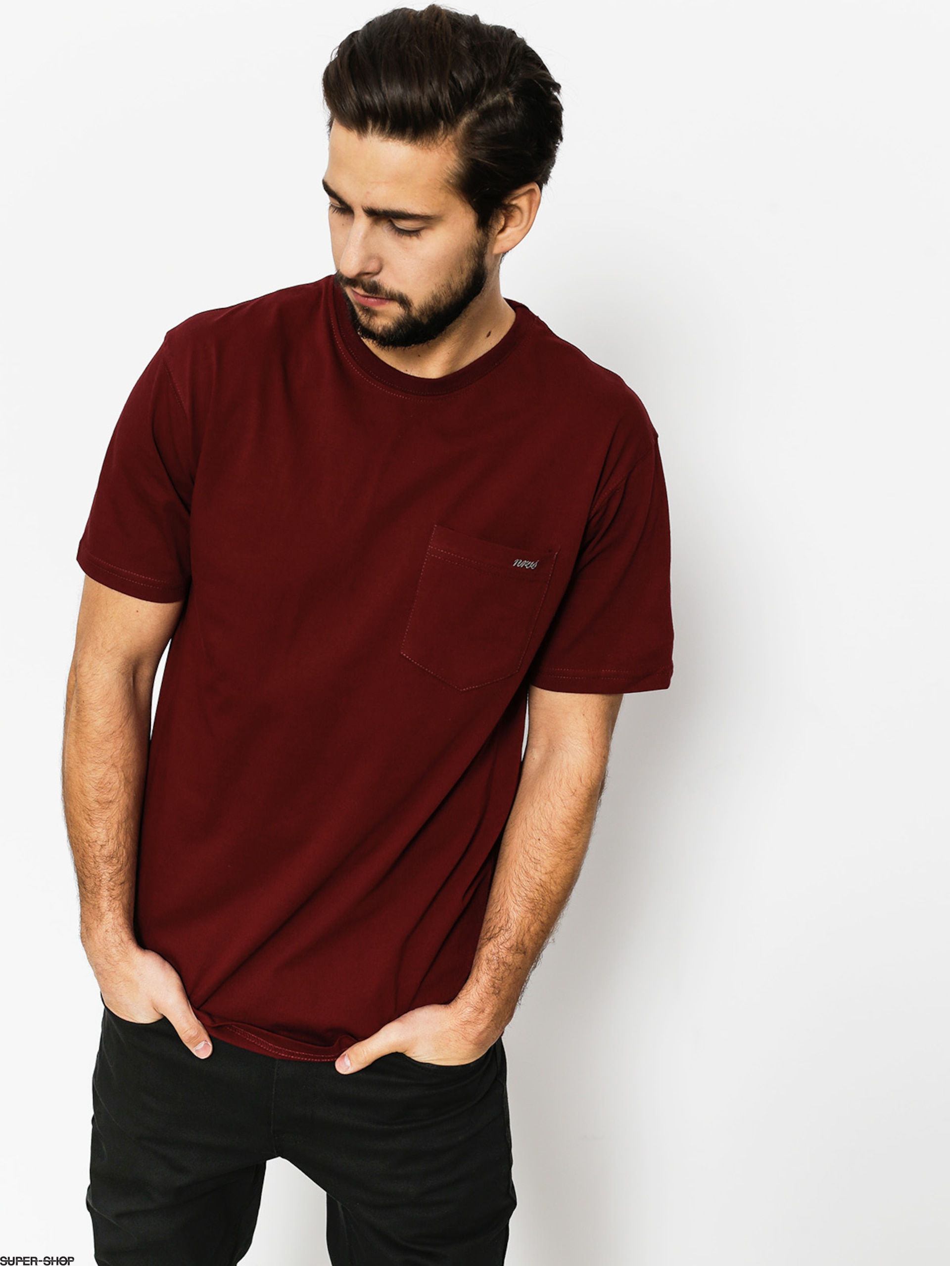 Nervous T-shirt Pocket (maroon)