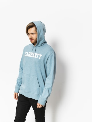 Carhartt Hoody College HD (dusty blue heather/white)