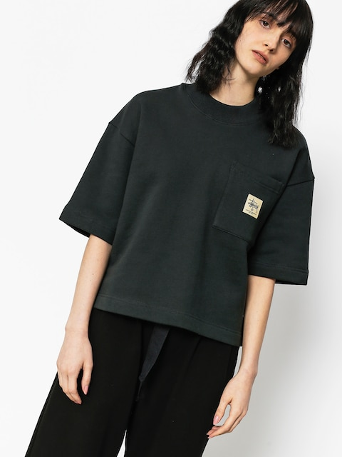 Stussy T-shirt Juno Boxy Mock Neck Wmn (black)