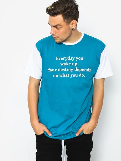 Diamante Wear T-shirt Wake Up (teal)