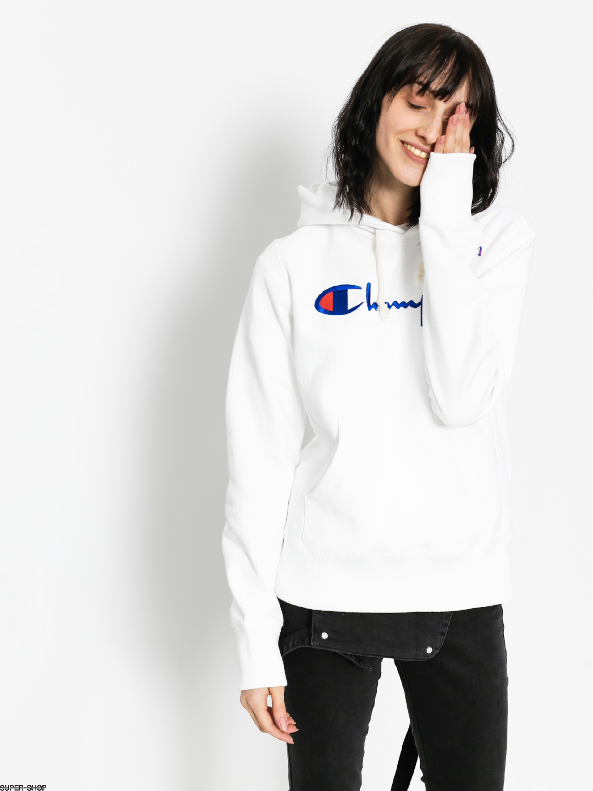 Champion Hoody Reverse Weave Hooded Sweatshirt HD Wmn (wht)