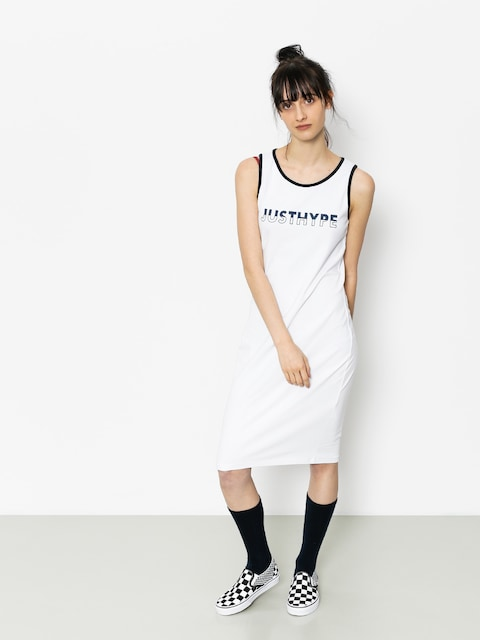 Hype Kleid Split Logo Wmn (white/black)