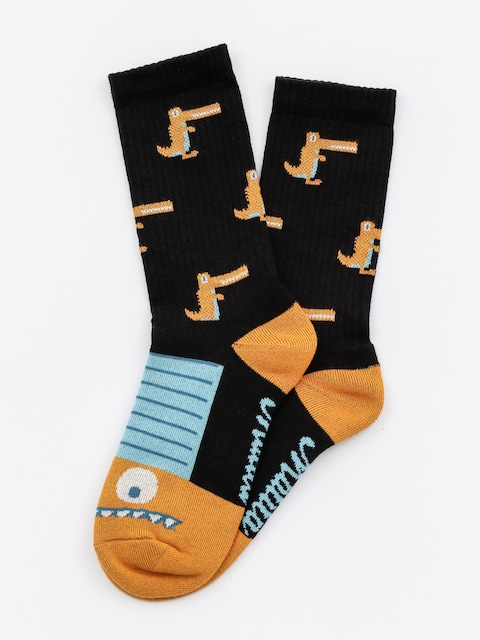 Malita Socks Crocodiles (black/gold)