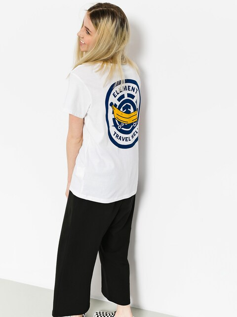 Element T-Shirt Travel Crew Wmn (white)