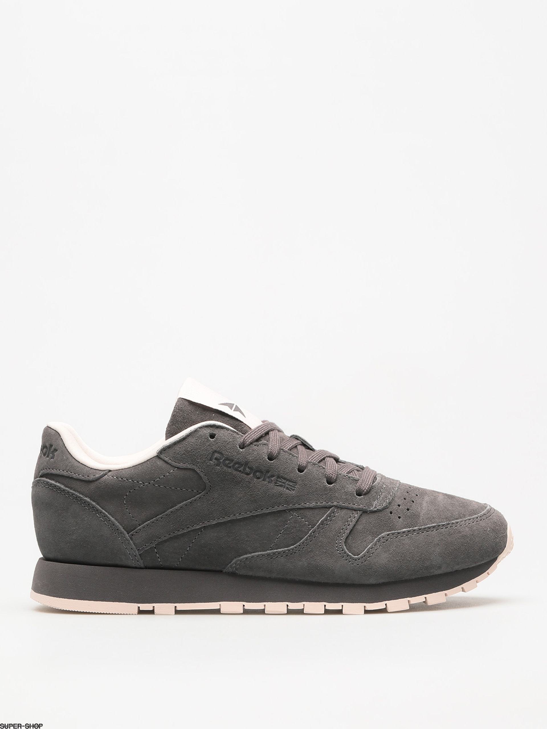 Reebok Shoes Cl Lthr Tonal Nbk Wmn (ash grey/pale pink)