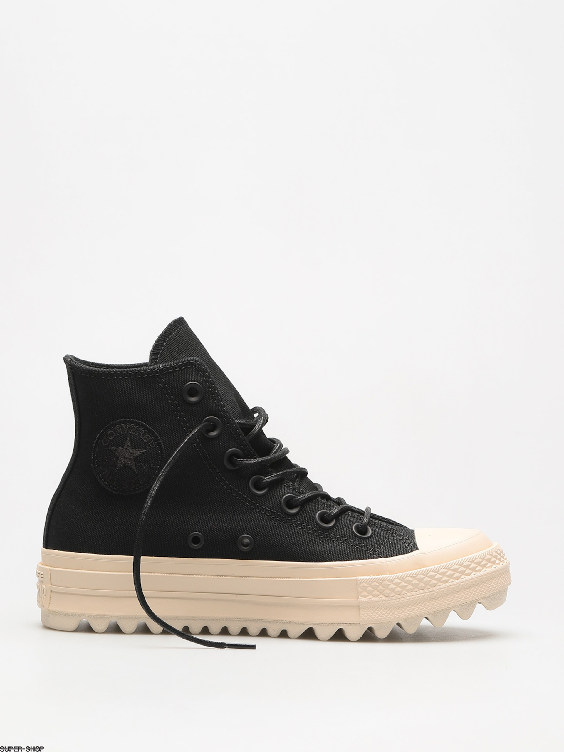fc2f6e622828 Converse Chucks Chuck Taylor As Lift Ripple Hi Wmn (black black natural)