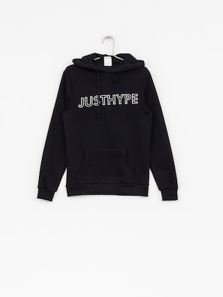 Hype Hoodie Embroidered HD Wmn (navy/white)