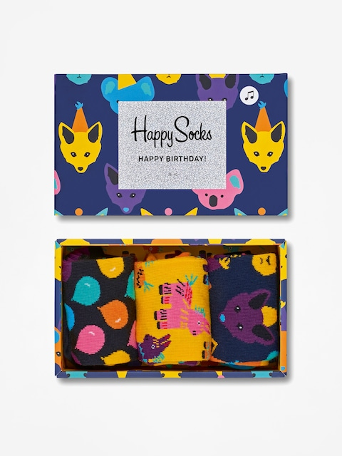 Happy Socks Socks Giftbox 3pk Party Animal Singing (multicolor)