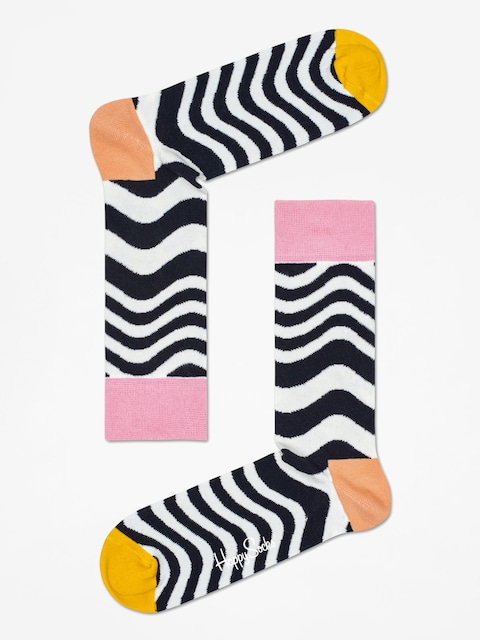 Happy Socks Socks Wavy Stripe (white/black)