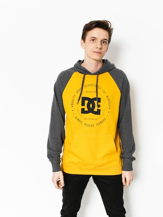 DC Hoodie Rebuilt HD (heather charcoal/old gold)