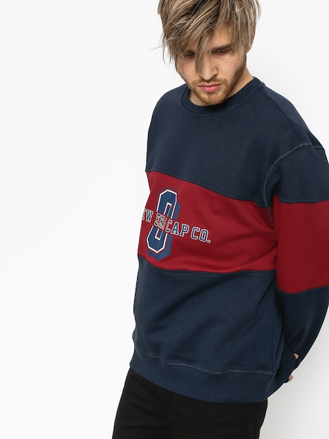 New Era Sweatshirt World (navy/maroon)