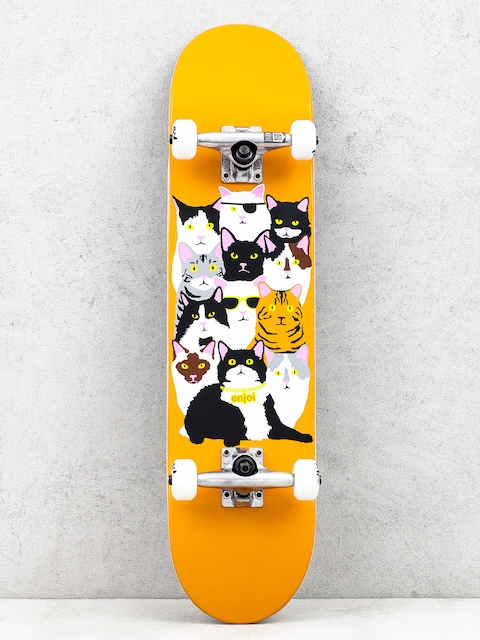 Enjoi Skateboard Cat Collage V2 (orange)