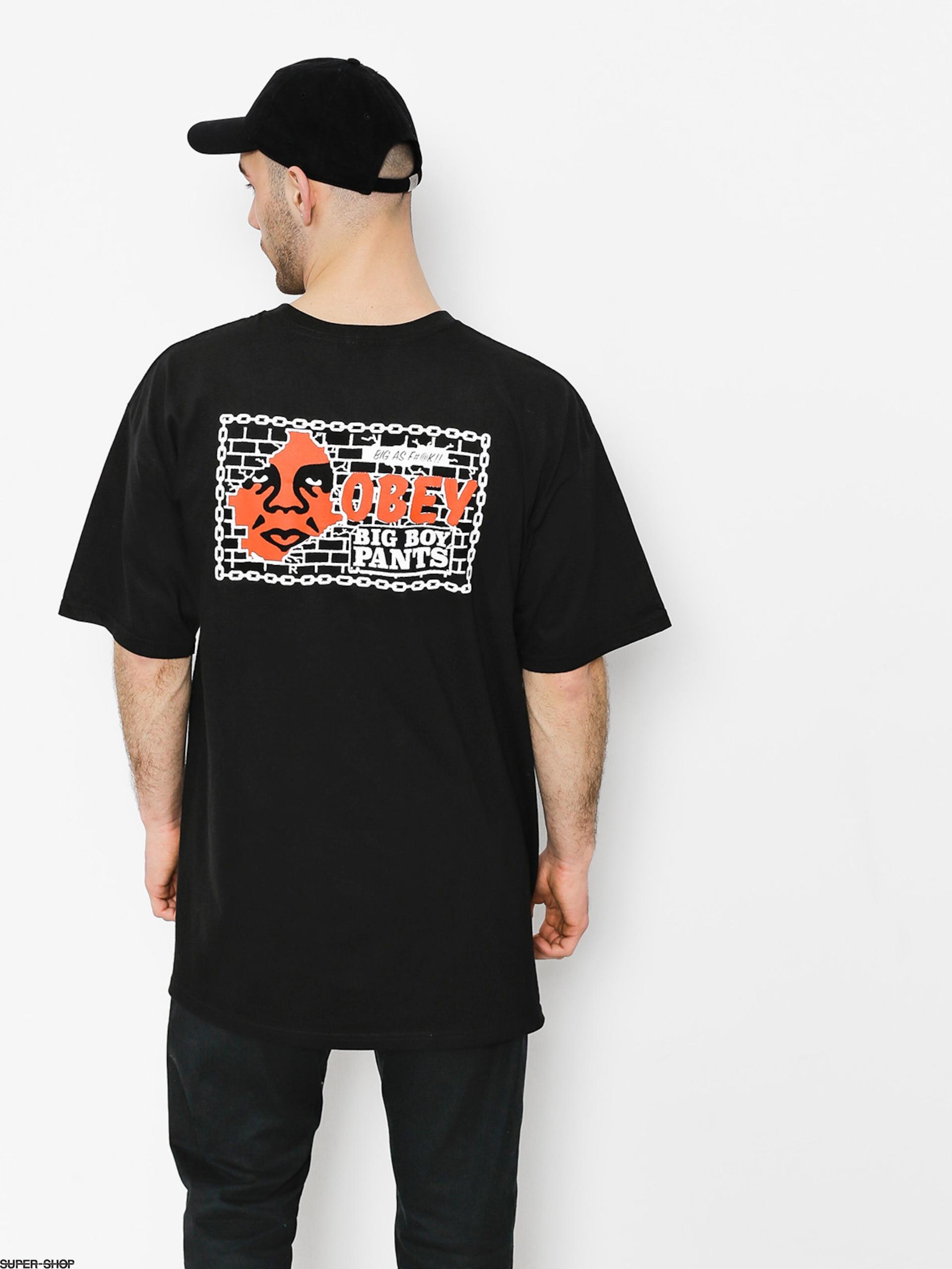 698f6351 OBEY T-shirt Big Boy Pants Basic (blk)