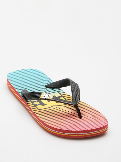 DC Flip Flops Spray Graffik (stripe citrus/olmpian blue)