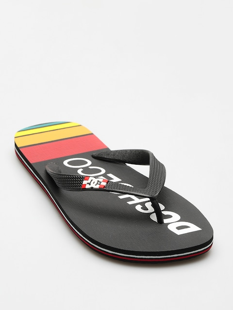 DC Flip Flops Spray Graffik (black/red/yellow)