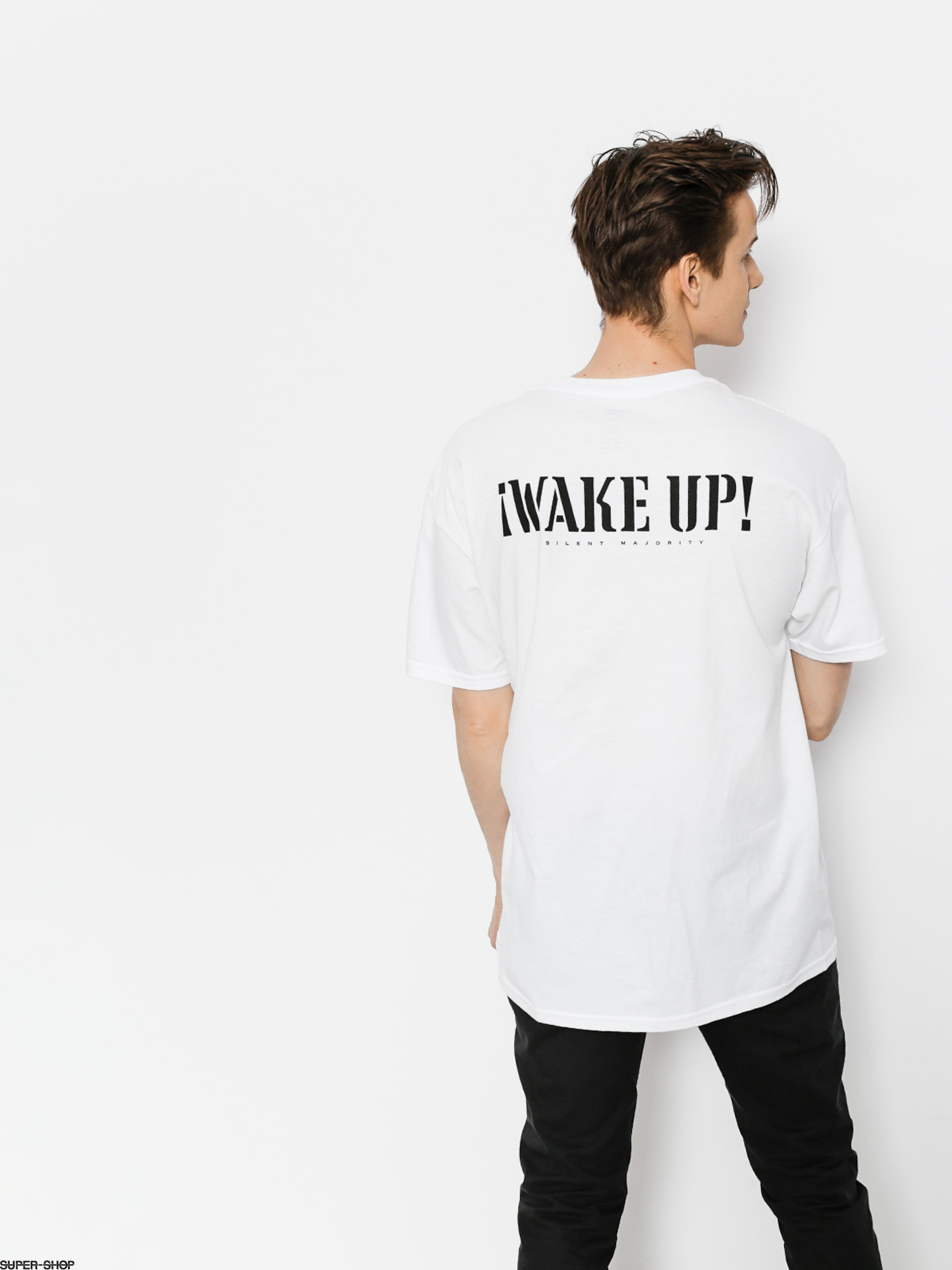OBEY T-Shirt Obey Wake Up Silent Majority (wht)