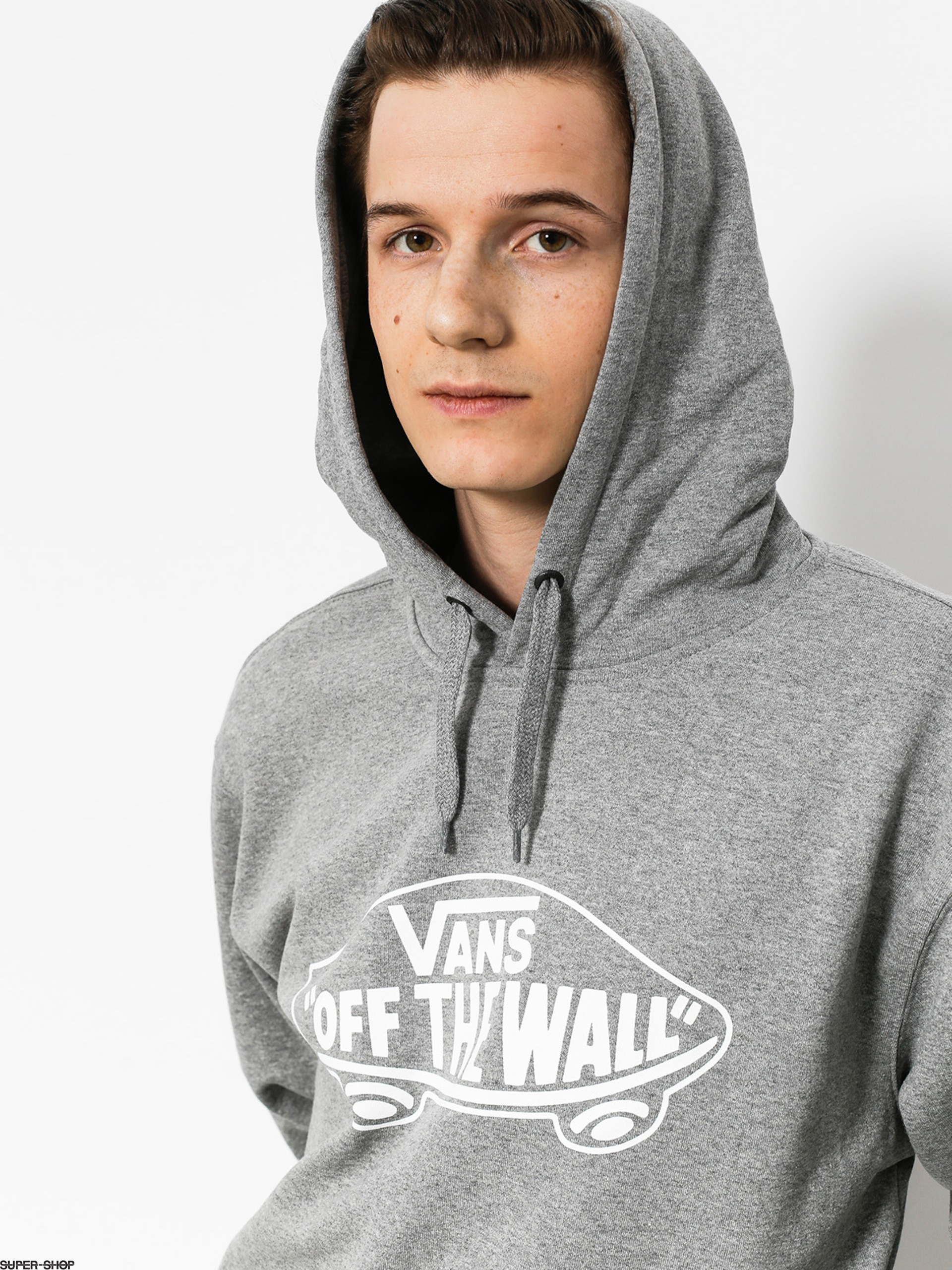 dd48ea4086c85e Vans Hoodie Otw HD (cement heather white outline)