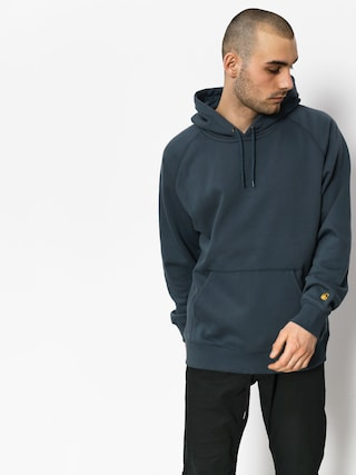 Carhartt Hoodie Chase HD (stone blue/gold)