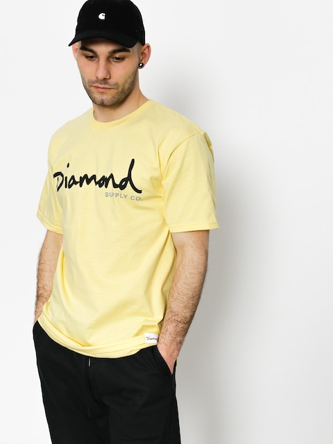 Diamond Supply Co. T-shirt Og Script (banana)