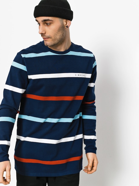 Diamond Supply Co. Longsleeve Paradise Striped (navy)