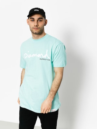 Diamond Supply Co. T-shirt Og Script (diamond blue)