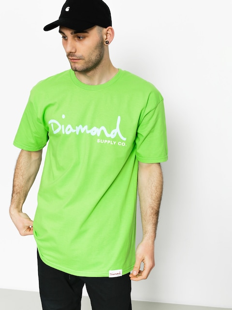 Diamond Supply Co. T-shirt Og Script (lime)