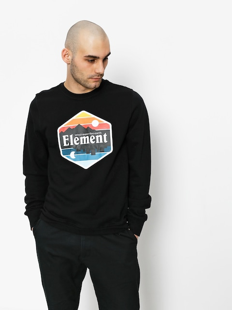 Element Sweatshirt Dusk Crew (flint black)