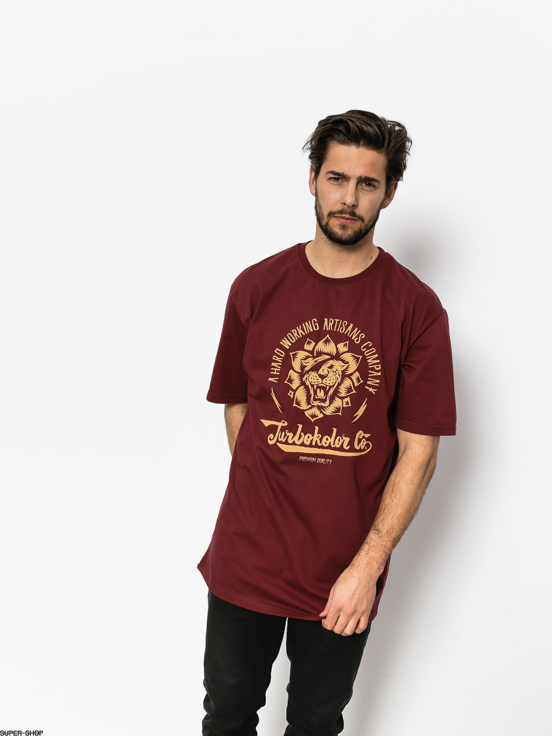Turbokolor T-shirt Lotos (burgundy)