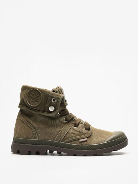 Palladium Shoes Pallabrouse Baggy (dk olive/dk gum)