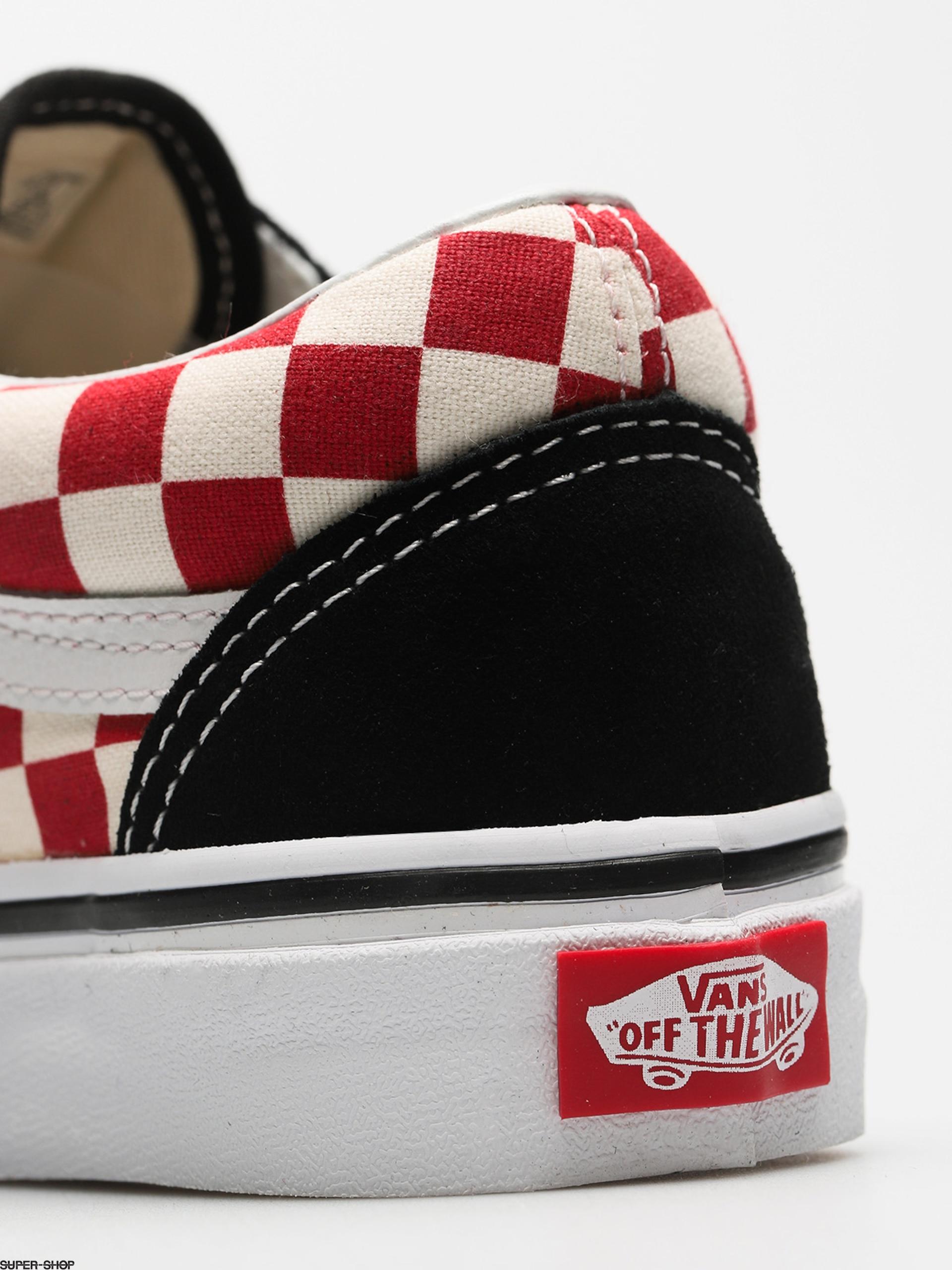 Vans Shoes Old Skool (checkerboard black red) 546585c56