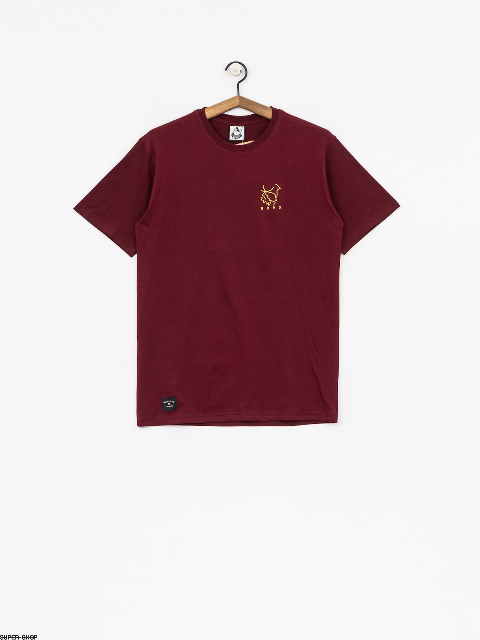 Nervous T-shirt Deconstruct (maroon)
