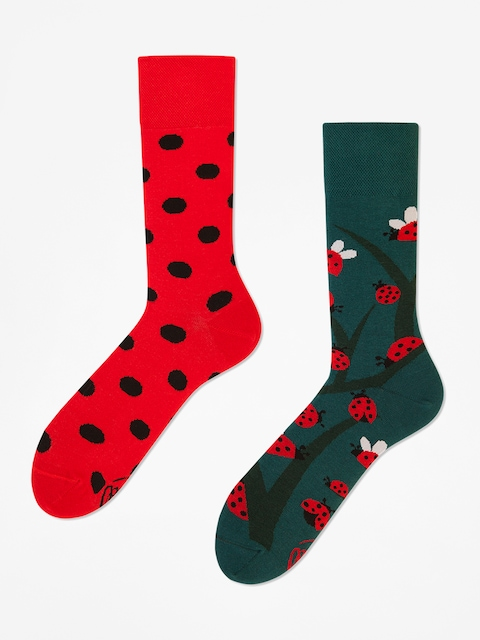 Many Mornings Socken Dots And Bugs (green/red)